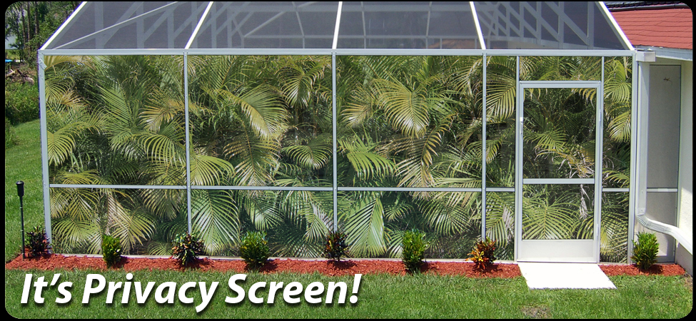 Patio scenes for Pool screen privacy